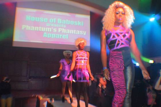 Phantum Phantasy Apparel at DRAUMA - Columbus Alternative Fashion Week 2014 Photo Credit - unknown Designer - House of Baboski Model - Caleb Mikayla Denise Robinson, MzDezy, Rhealyn Gelin & Jereatha Jackson