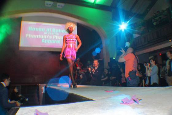 Phantum Phantasy Apparel at DRAUMA - Columbus Alternative Fashion Week 2014 Photo Credit - unknown Model - MzDezy, Caleb Mikayla Denise Robinson & Rhealyn Gelin Designer - House of Baboski