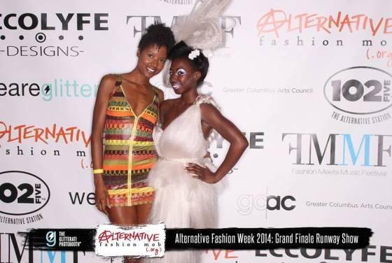 Grand Finale Runway Show - Columbus Alternative Fashion Week 2014 Photo Credit - Alternative Fashion Mob Designer - Synthetic Rebellion (right) Makeup - Matthew Hoenie (right)  Hair - Brianne & Kaylen of Synthetic Rebellion